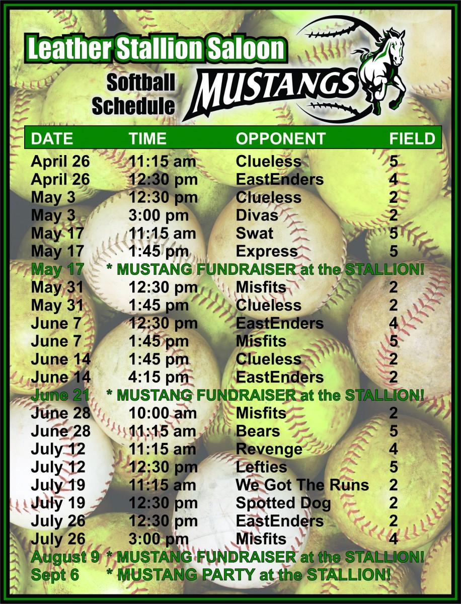 Mustangs Schedule