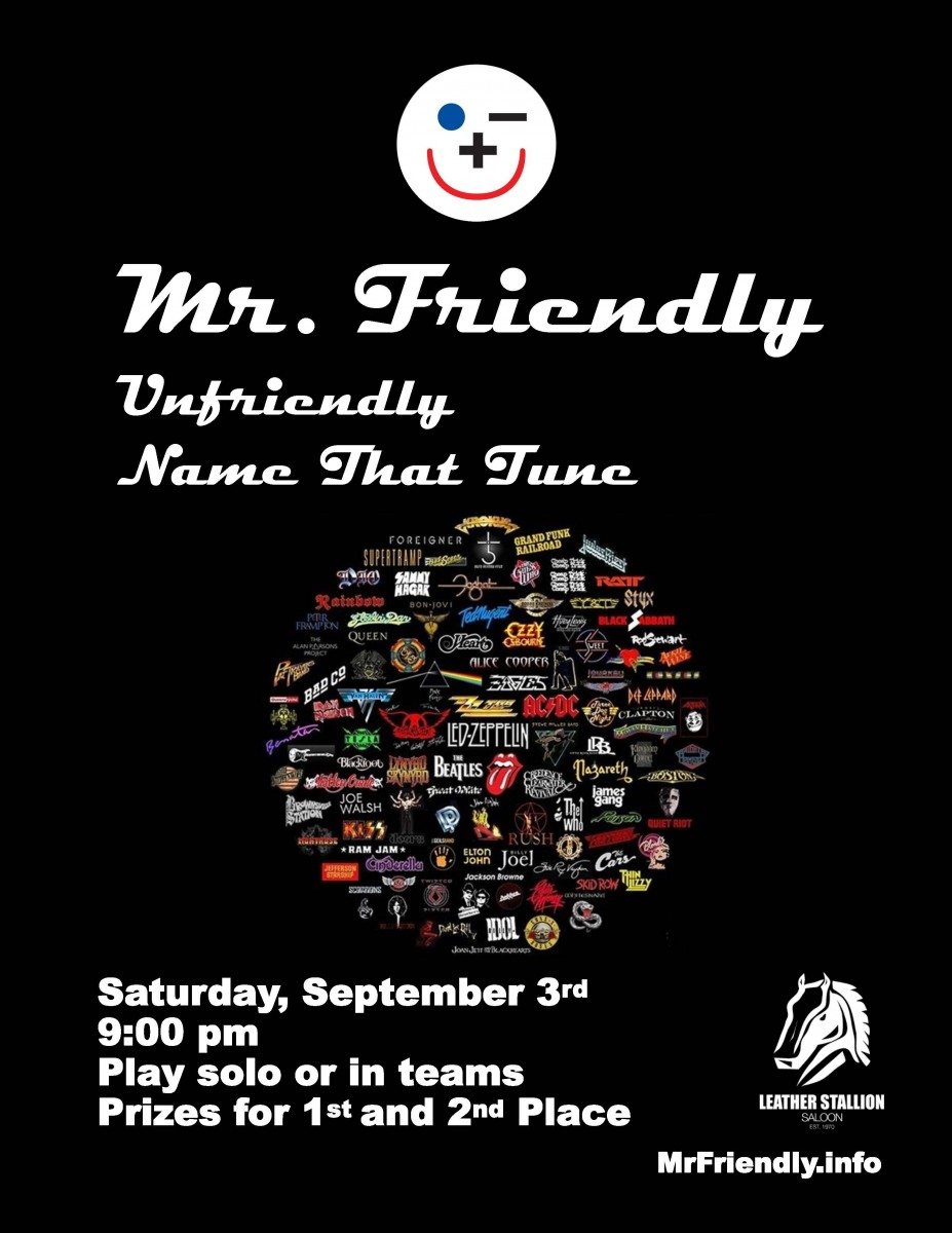 Mr Friendly - Unfriendly Name That Tune