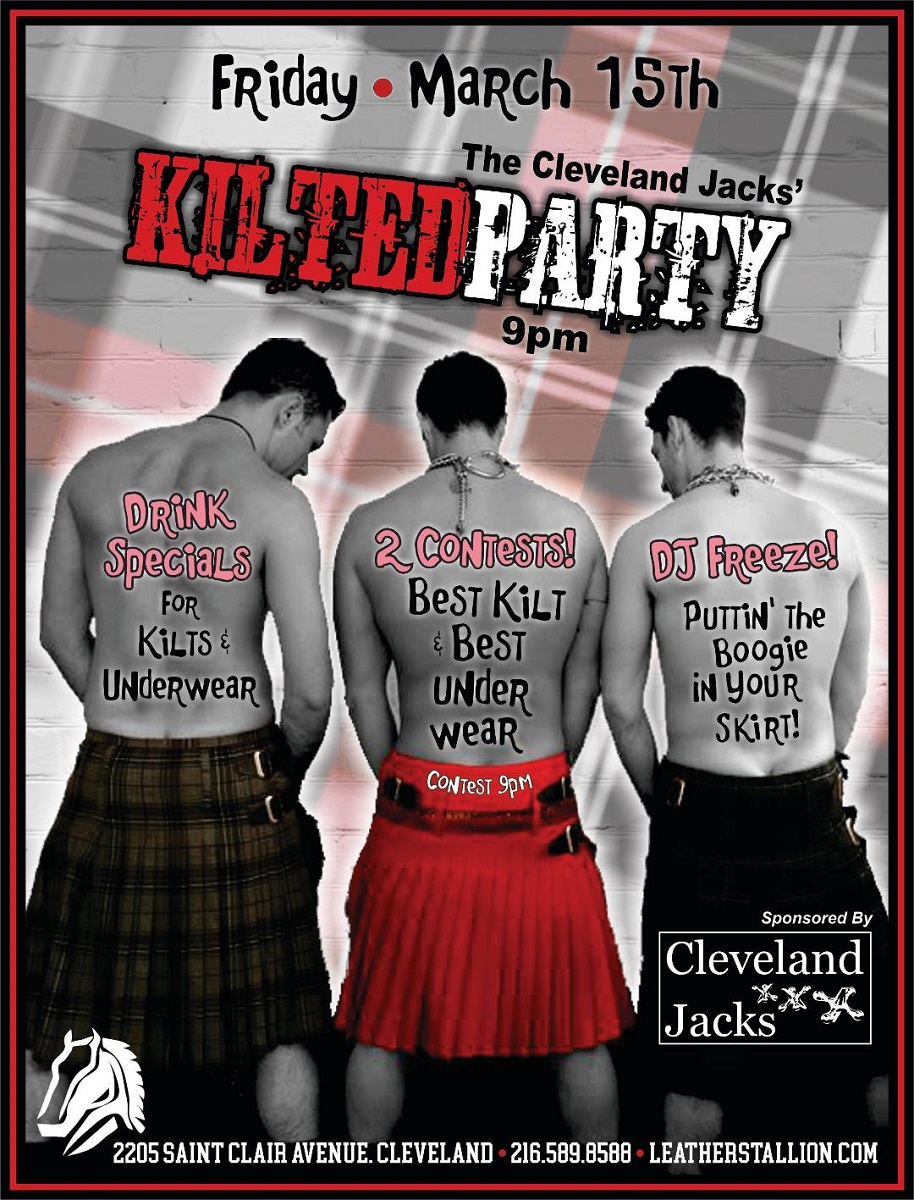 Cleveland Jacks Kilted Underwear Party